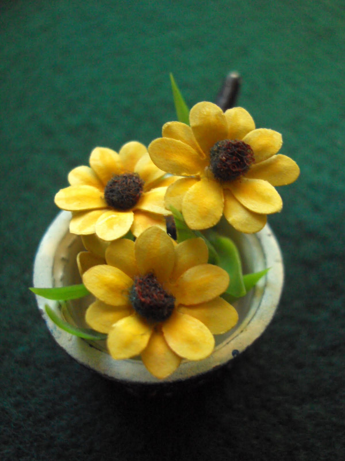 Antique Daisy Sunny Flowers Tutorial How To Make Mini Paper Flowers