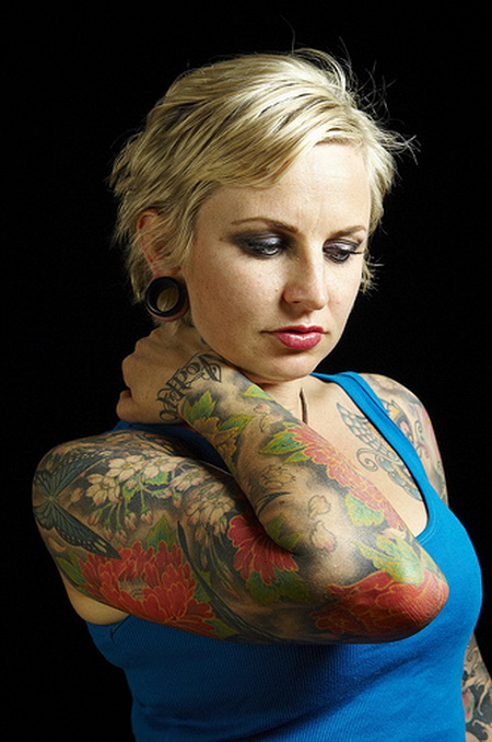 Girl Sleeve Tattoos