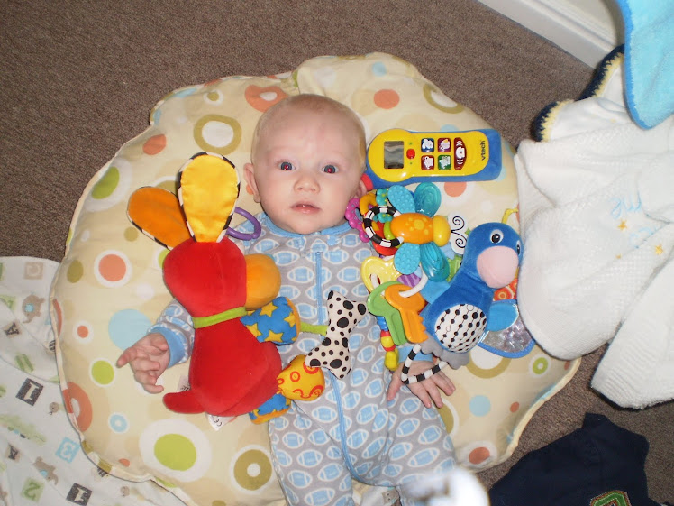 Owen loves his toys!