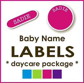 baby name labels for children daycare package