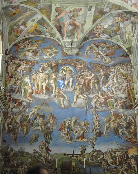 The Last Judgement, Michelangelo, Rome, Capella Sistina