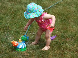 Playing in the Sprinkler!