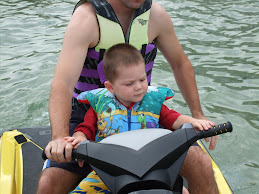 Zach and Daddy on the Jet Ski