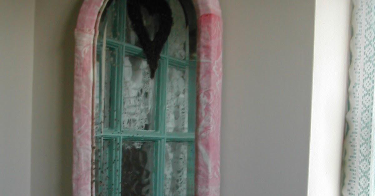 Niki Fretwell Vintage Fabric Framed Mirror