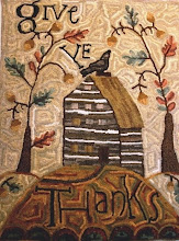"""Give Yee Thanks"" Hooked Rug  2009"