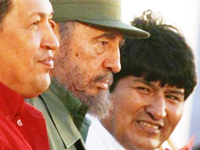 Hugo Chavez, Fidel Castro &amp; Eva Morales