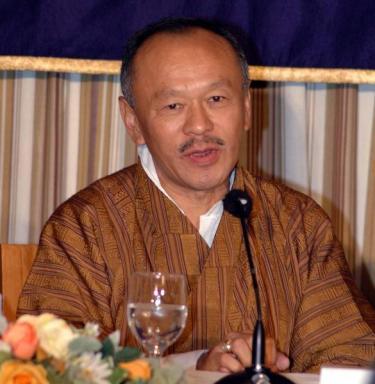 Lyonchen Jigmi Y. Thinley, Prime Minister, Bhutan