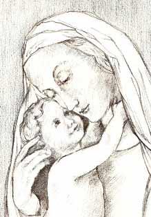 Virgin and Child after Von Carolsfield