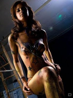Asian Model With Art Of Body Painting