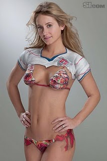 Apparel Body Art, Bethany Dempsey bodyart, Body Art Paintings,  Girl Dressed With Paintings, Sports Dress Body Art, sports illustrated  boby paint, woman body art