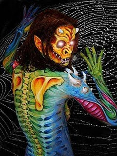 Best Horror Monster Body Art Painting