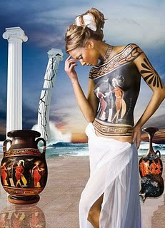 Body Art Paintings Egyptian Sexy Girl Body Paint