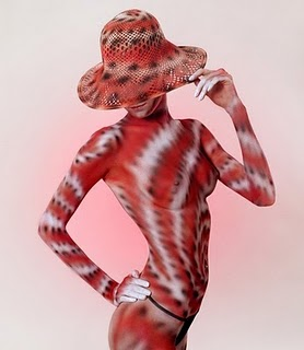 full body painted women