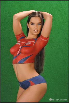 soccer bodypaint, bodypaint design