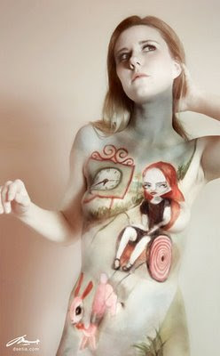 Living Canvas Body Art Painting