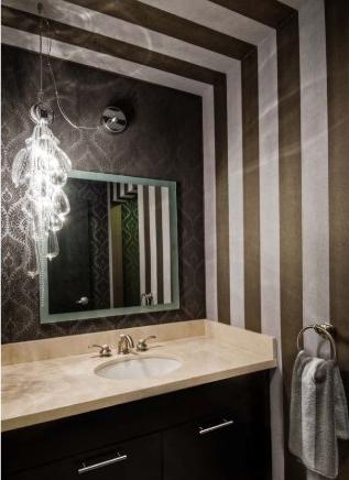 Kelly Wearstler Bathroom The Marble Mirror Stripe What