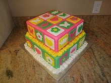 Patch Work Quilt Cake