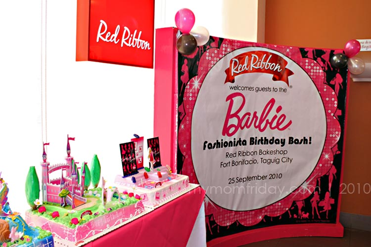 Red Ribbon Barbie Birthday Cakes Price