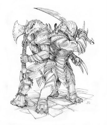 Dragonborn male female pair