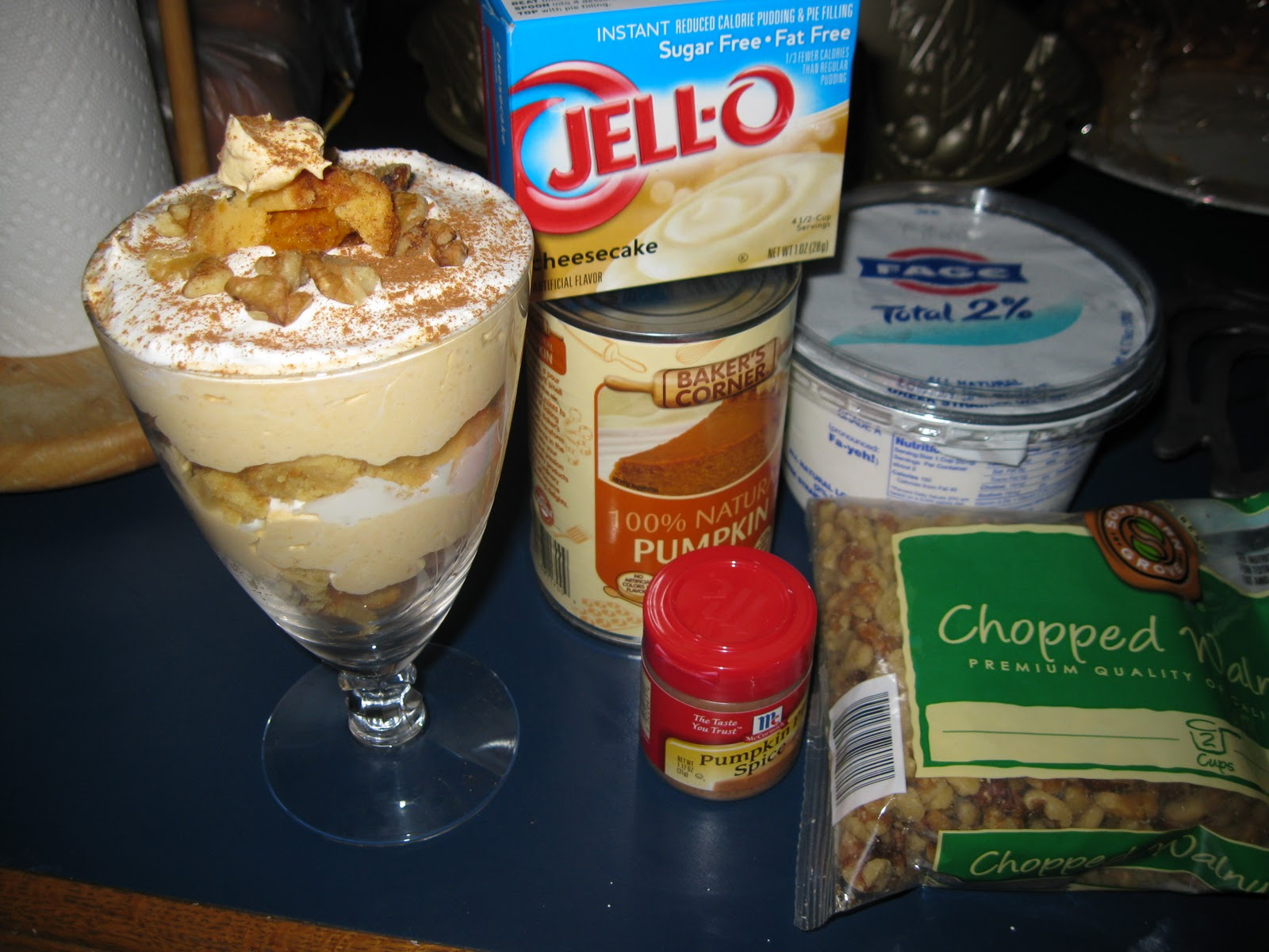 Dessert Week Offering # 7: Jen's Pumpkin Turtle Cheesecake Trifle