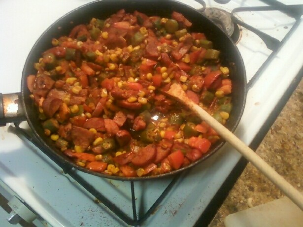 ... Foodie: Leftovers Week: Nik's Corn, Okra and Tomato (WLS style