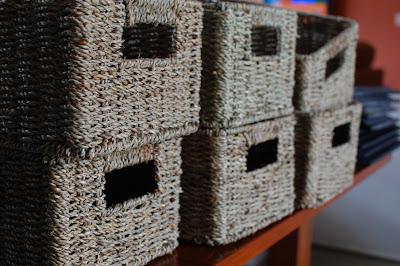 New storage baskets