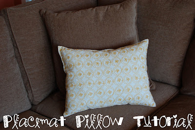 Placemat Pillow Tutorial
