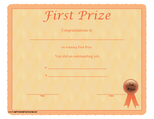 first place winner certificate template httprosannedingliblogspot