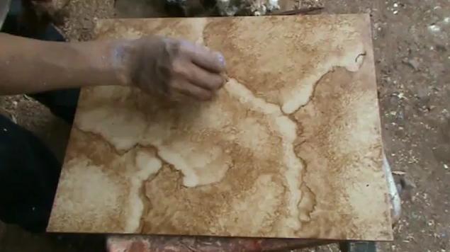Decoraciones manualidades en madera como hacer una for Como pintar imitacion piedra