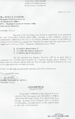 Application Letter For Ojt In Computer Science Dental