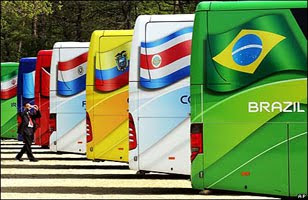 Team slogans on World Cup 2010 buses