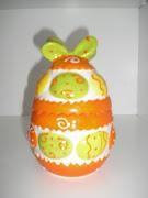 Este año este huevo de pascua de cerámica que venía muy mono envuelto- pero . imagen