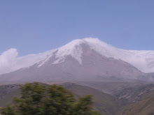 A mountain with snow on it in Ecuador!