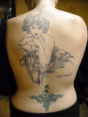 "Mucha tattoo ""spring 1900"" by ~Guusje on deviantART. Getting inked:"