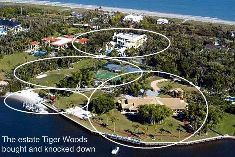 tiger woods home jupiter island. Golf superstar Tiger Woods