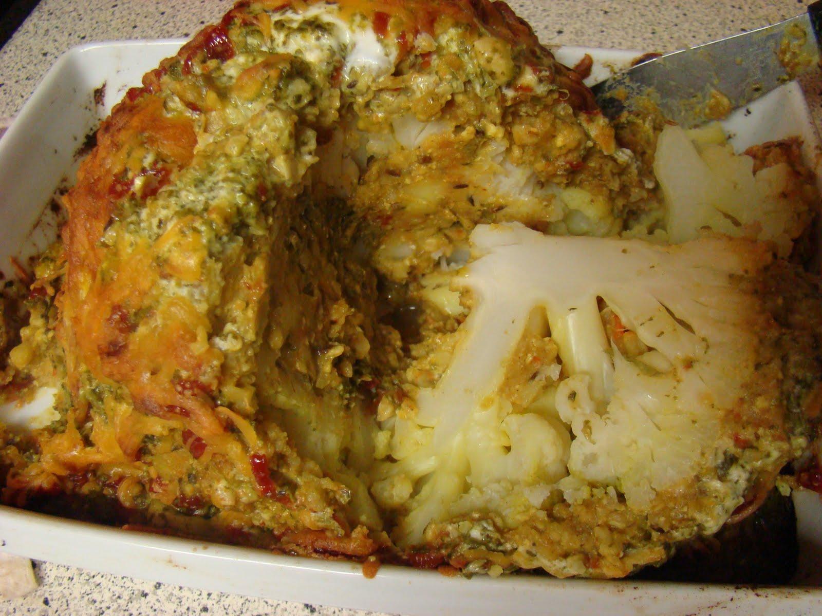 Цветная капуста в духовке пошаговый рецепт целиком