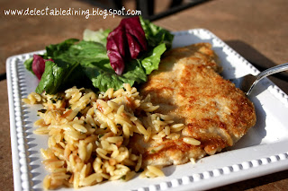 Delectable Dining: Chicken Milanese with Spring Greens & Parmesan ...