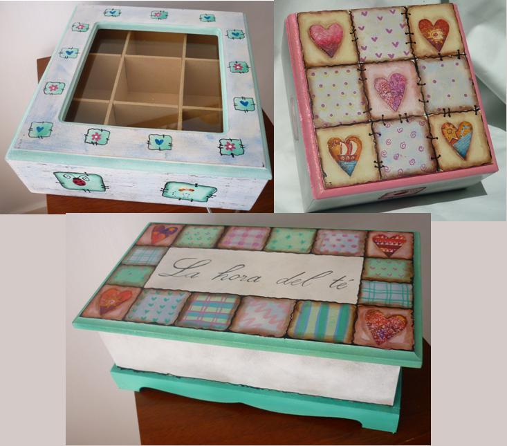 Manualidades lali cajas de t - Caja madera manualidades ...