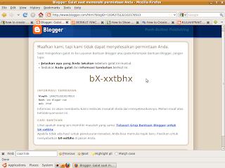 Mengatasi masalah munculnya pesan galat pada blogger setelah edit html template