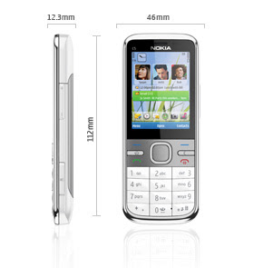 nokia c5 specifications_dimensions