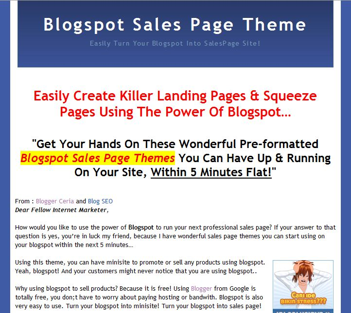 adjackprast: mini site blogger templates