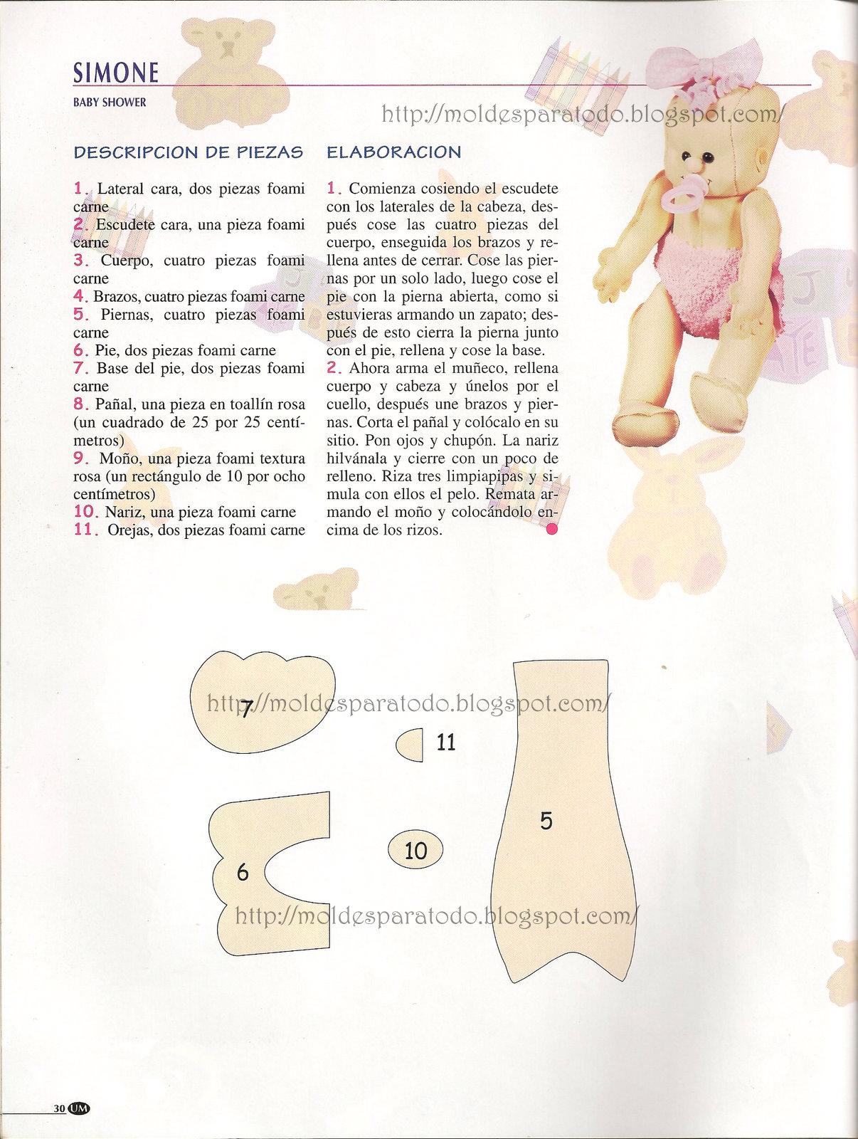 Moldes para Todo: °° Bebé en fomi 3D °°