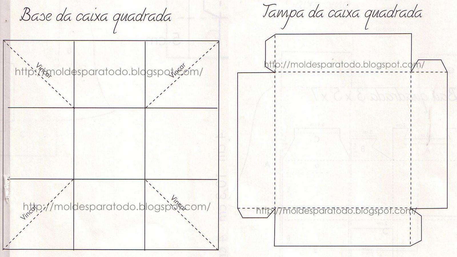 Caja Cuadrada Navide  A