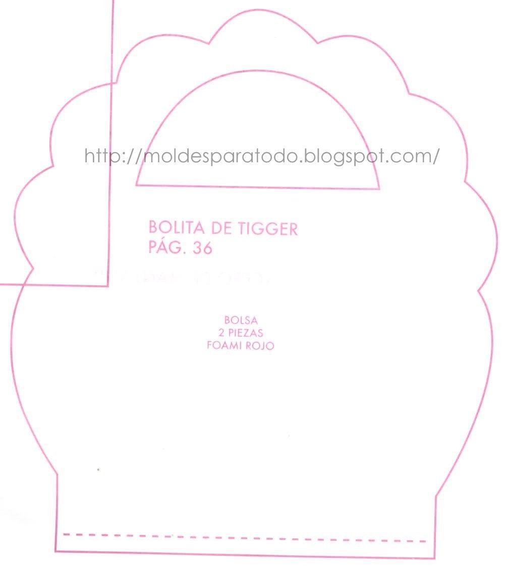 La figura de tigger en fomi no contiene molde en este proyecto.