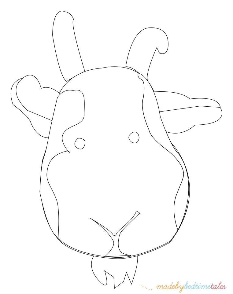 шаблон головы козла, козы для печати