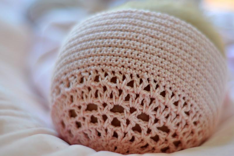 Aesthetic Nest Crochet Blessing Day Bonnet In Blush