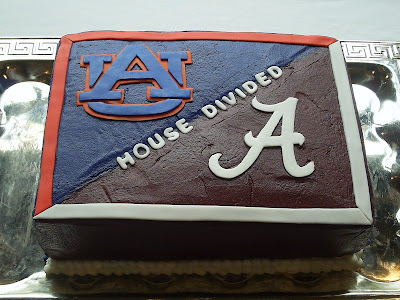 Alabama Auburn Groom 39s Cake My Mom did this one alabama wedding cakes
