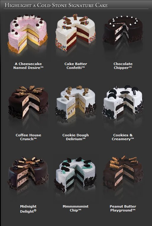 Cold Stone Birthday Cakes Prices 2018 Deals