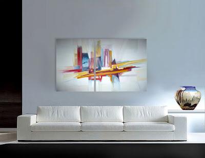 Venta de cuadros al oleo modernos y abstractos for Cuadros abstractos con marco