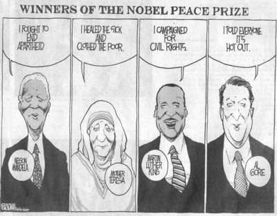 IPCC and Al Gore win Nobel peace prize for climate porn